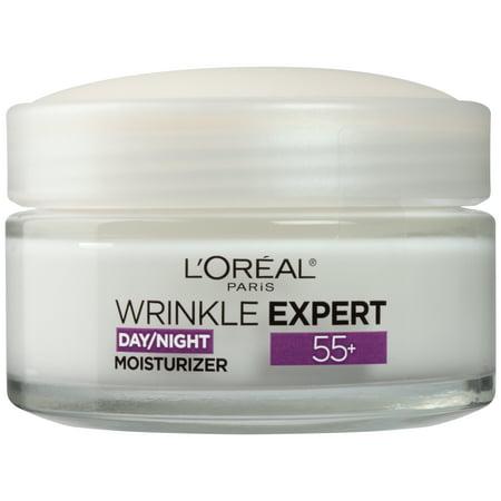 L'Oreal Paris 55+ Moisturizer Anti-Aging Face Moisturizer, Wrinkle Expert, 1.7 oz.
