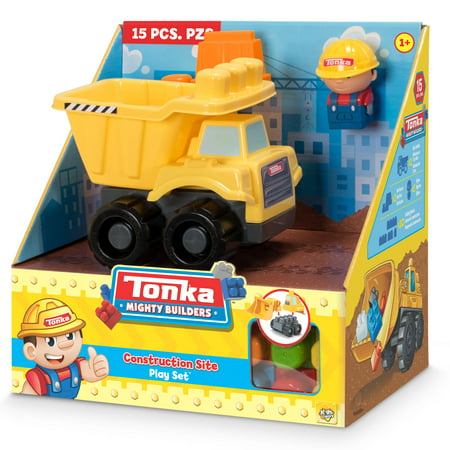 Tonka Mighty Builders Construction Site Play Set - Dump Truck - 15 pcs