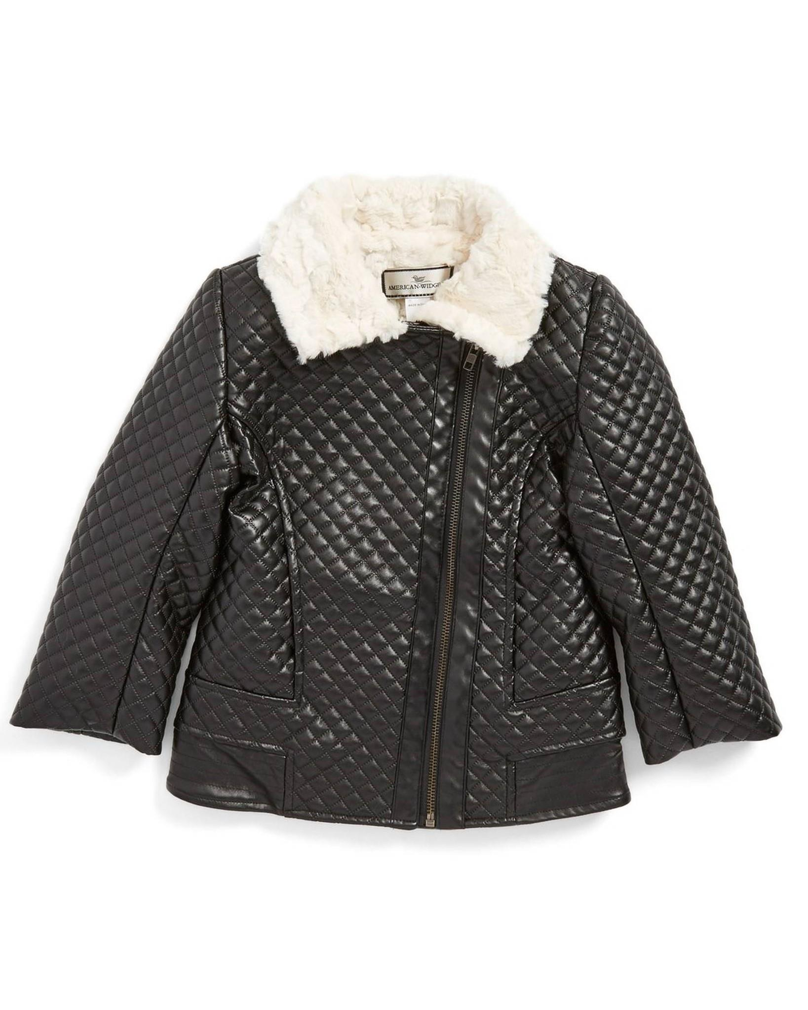 e31146724 American Widgeon Quilted Faux Leather and Fur Collar Moto Jacket ...
