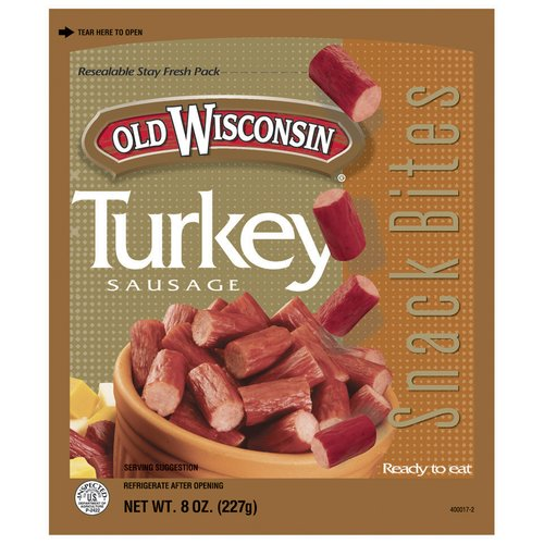 Old Wisconsin Snack Bites Turkey Snack Bites, 8 oz