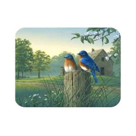 Tuftop Country Morning Bluebirds Cutting Board Size: Medium (12