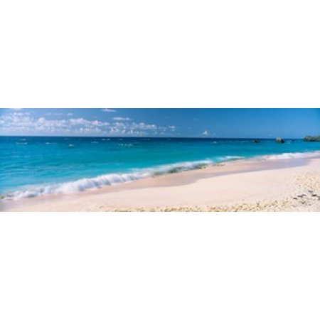 Waves on the beach Warwick Long Bay South Shore Park Bermuda Canvas Art - Panoramic Images (18 x (South Sea Rattan Bermuda)
