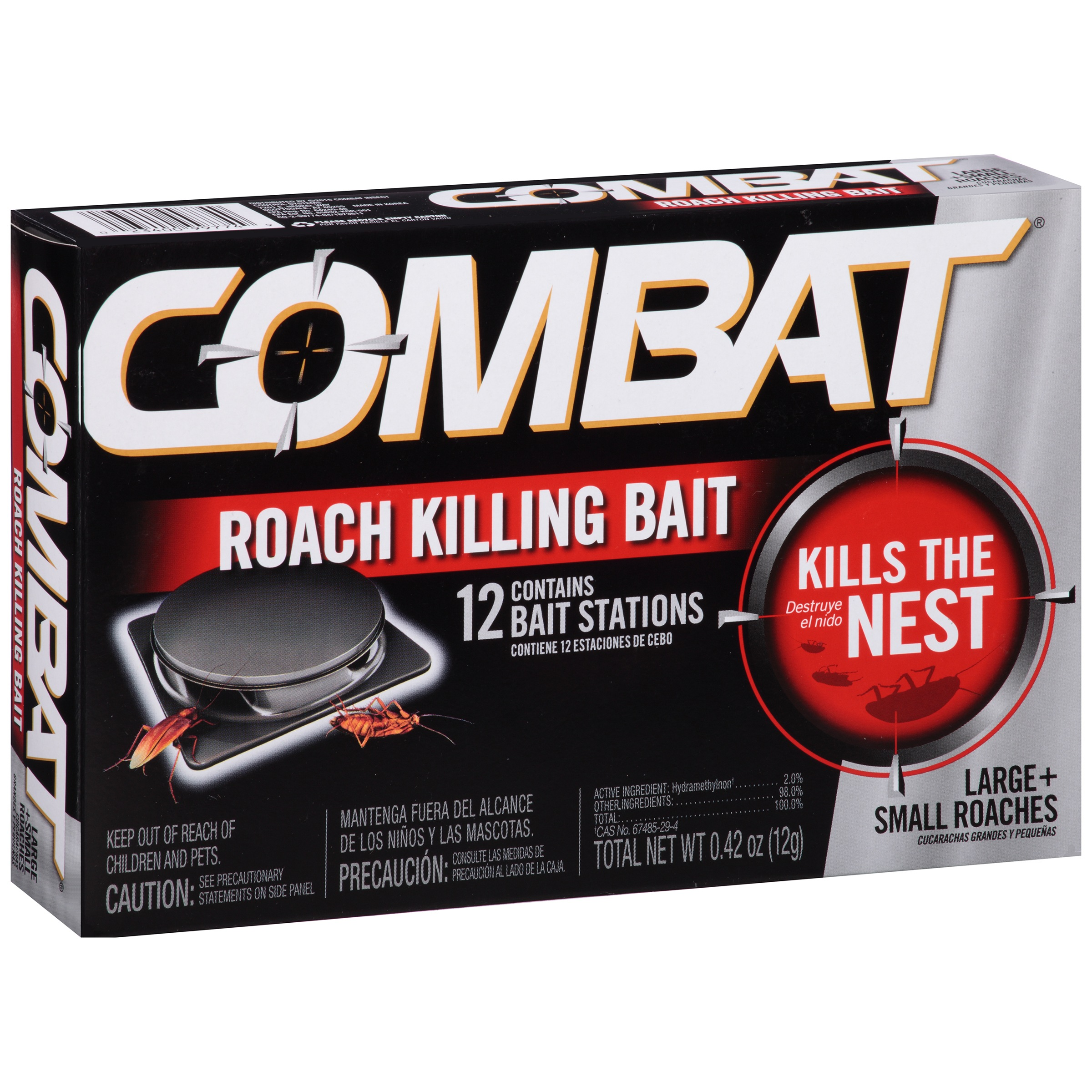 Combat® Small + Large Roaches Roach Killing Bait Stations 12 ct Box