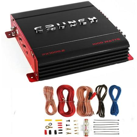 New Crunch PX-1000.4 4 Channel 1000 Watt Amp Car Stereo Amplifier + Wiring Kit
