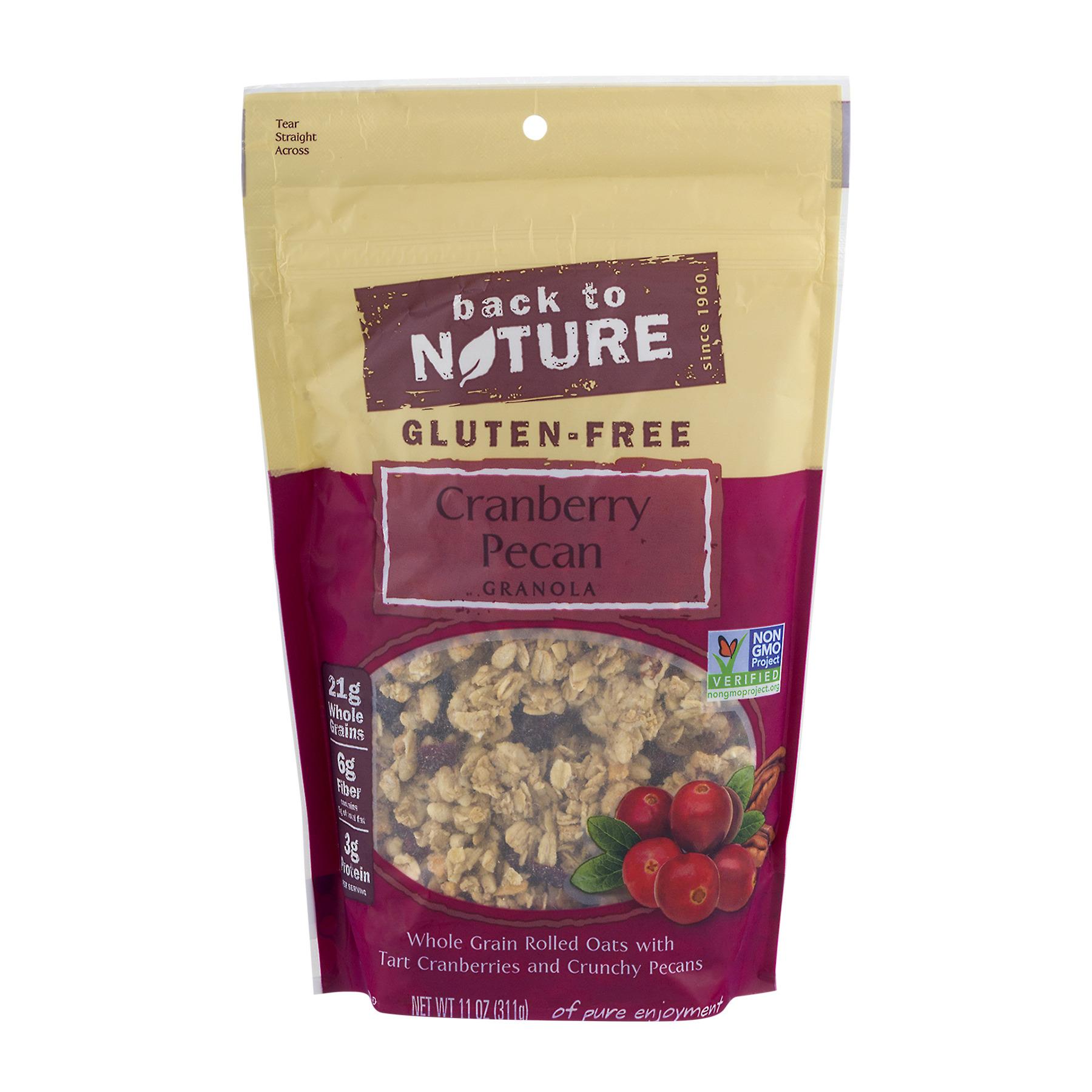 Back To Nature Gluten-Free Cranberry Pecan Granola, 11.0 OZ