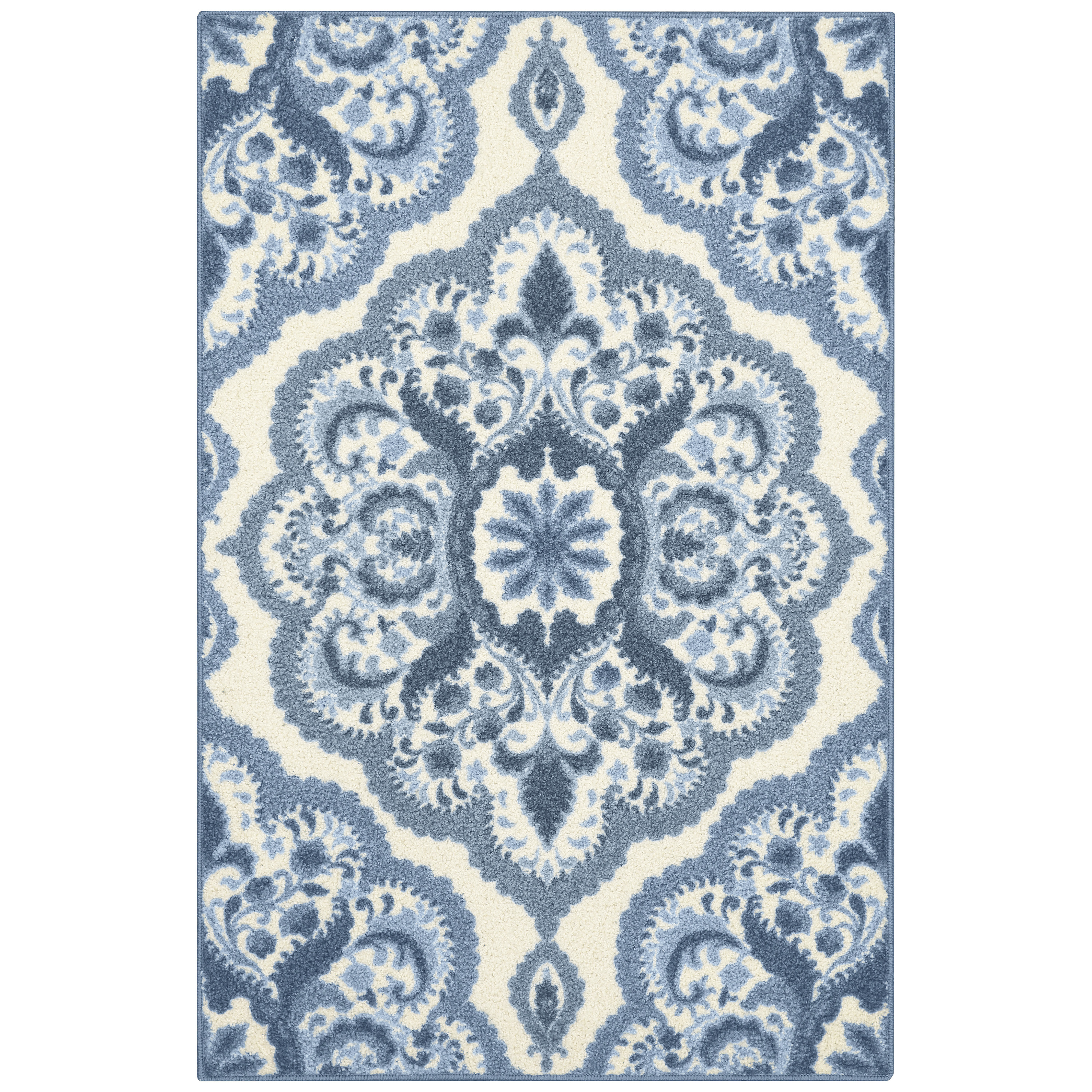 Mainstays Roxanne Area Rug or Runner, Available in 5' x 7', 7' x 10', and more sizes for Living Room, Family Room, Bedroom, Hallway, Non Skid for small rugs, Washable and Spot Clean