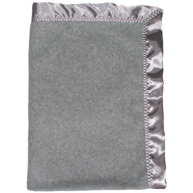 Dee Givens and CoRaindrops 1404 Raindrops 1404 Neutral Gray Heather Fleece Crib Blanket