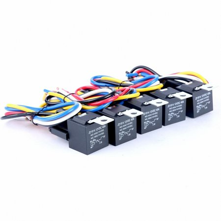 TSV (5 pack) 12V 30/40 AMP SPDT Automotive Relay with Wires ...  Amp Automotive Relay Wiring on 2 pole relay wiring, hella relay wiring, 40 amp fuse box, high power relay wiring, 240v relay wiring, plug in relay wiring, 4 pole relay wiring, 3 pole relay wiring, spdt relay wiring,