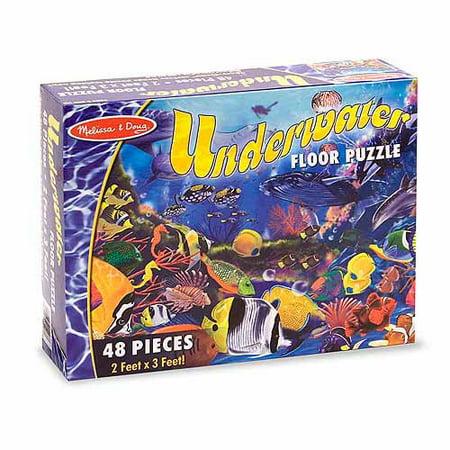 Melissa & Doug Underwater Ocean Floor Puzzle (48 pcs, 2 x 3 feet)