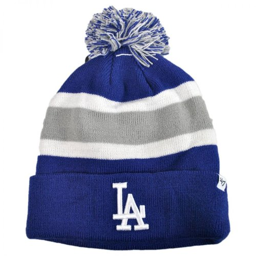 "Los Angeles Dodgers Blue ""Breakaway"" Beanie Hat with Pom - MLB LA Cuffed Winter Knit Toque Cap"