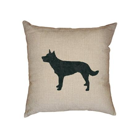Australian Kelpie Dog Decorative Linen Throw Cushion Pillow Case with Insert
