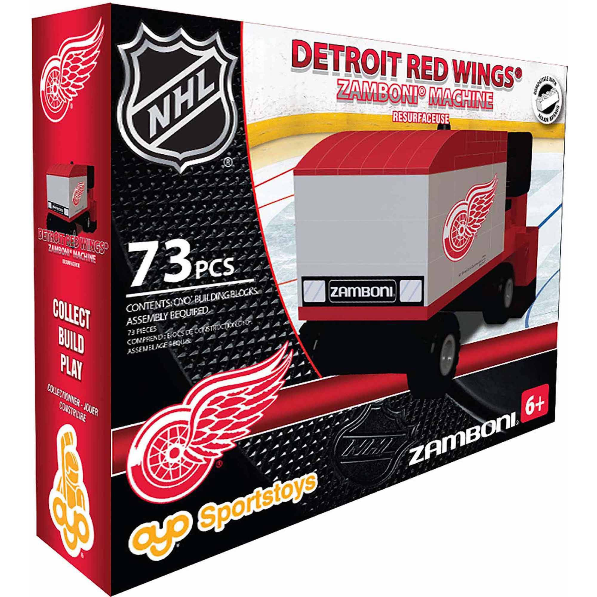 OYO Sports NHL 73-Piece Zamboni Building Block Set, Detroit Red Wings by OYO Sports Toys
