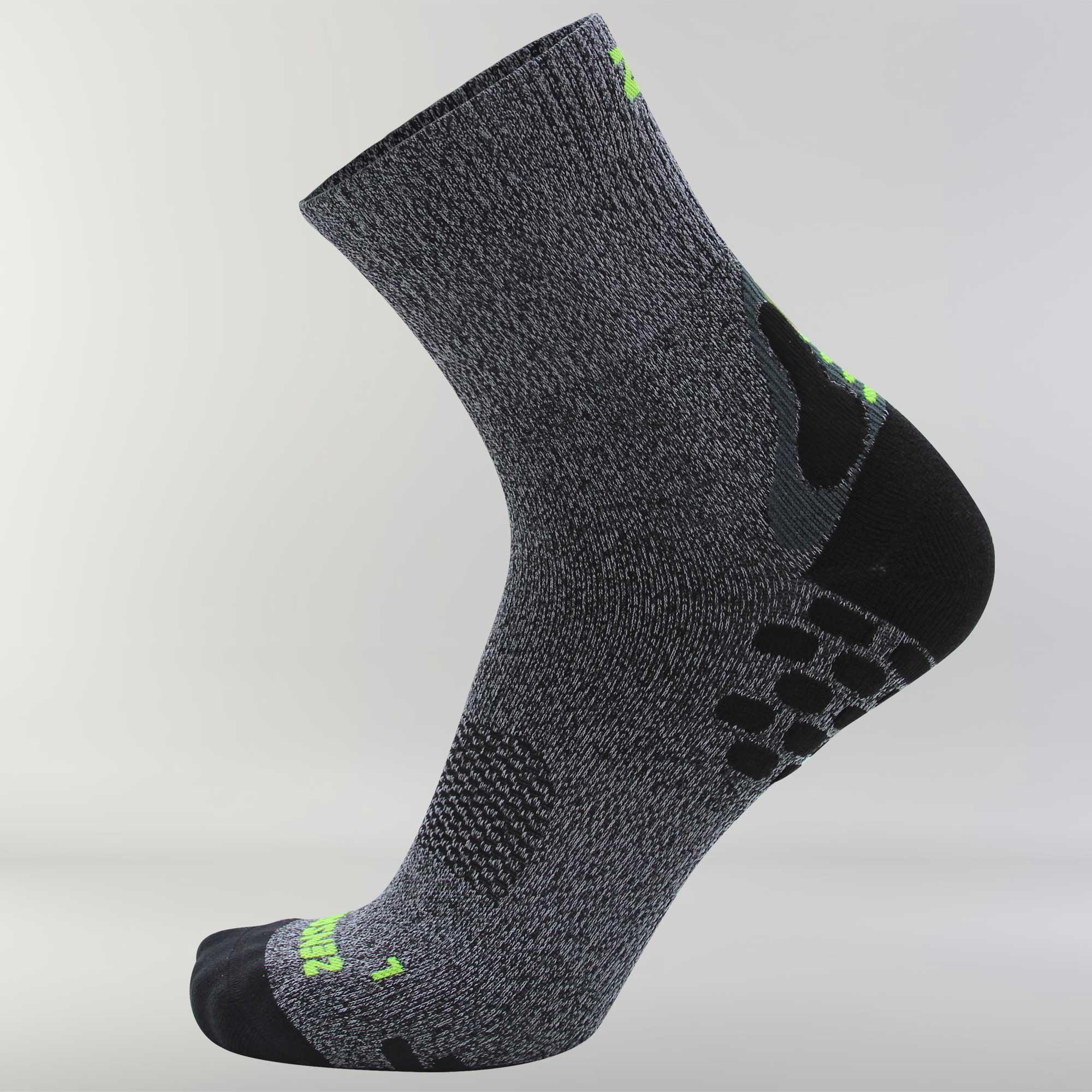 3D Dotted Socks L / Heather Grey