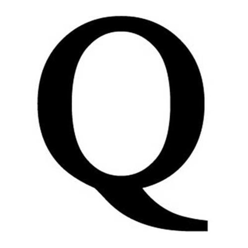 Village Wrought Iron LET-Q-S Letter Q Small