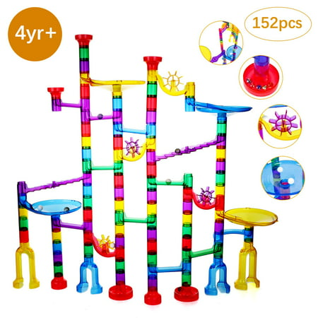 152 Pcs Marble Run Set Toys for 3 4 5 6 7 8 Year Old Boys Girls, Imaginarium Construction Building Blocks STEM Toys Deluxe Marble Maze Game Christmas Toys Best Gifts for Kids (Best Marble For Home)