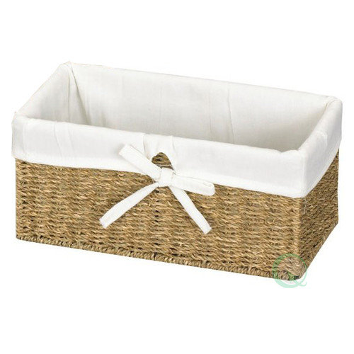 Quickway Imports Seagrass Lined Shelf Basket