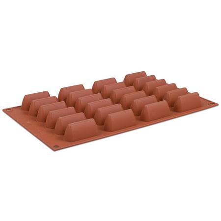 Silikomart Orange Non Stick Mini Wedge 24 forms