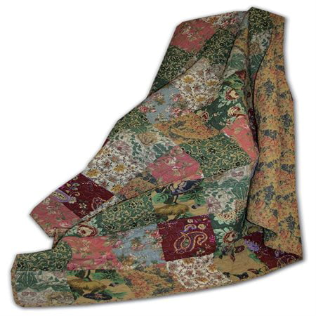 Greenland Home Antique Chic Quilted Patchwork Throw Handmade Cotton Quilt Throw