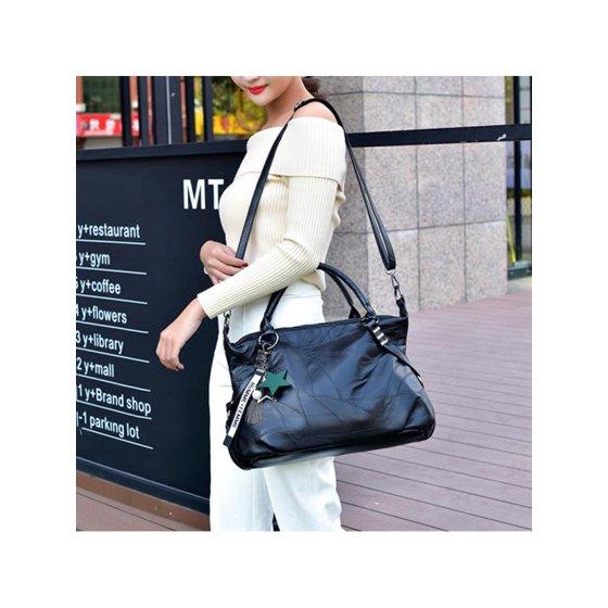 2018 New Fashion Woman Leather Handbag Wild Messenger Shoulder Bags Bag  Large Capacity Shoulder Bag Star Decor Tote Bag - Walmart.com af45c99c9667d