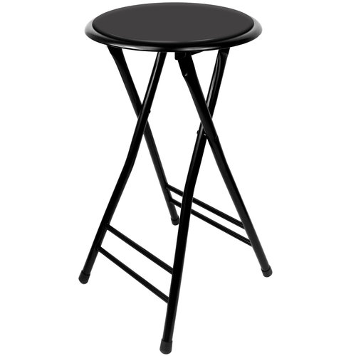 "Trademark Global 24"" Cushioned Folding Stool"