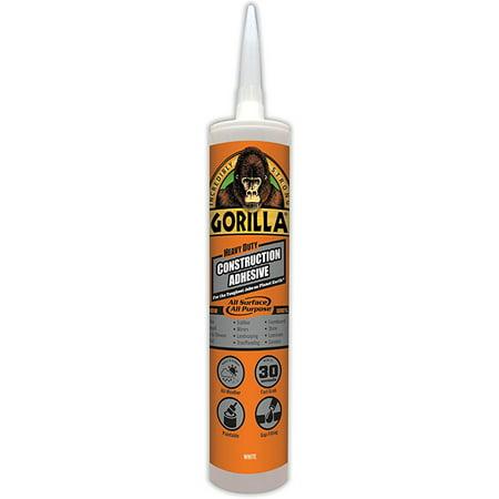 Gorilla Heavy Duty Construction Adhesive, 9 oz., -