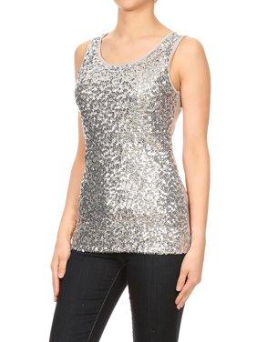 72b371e5fbf Silver Womens Tops & T-Shirts - Walmart.com