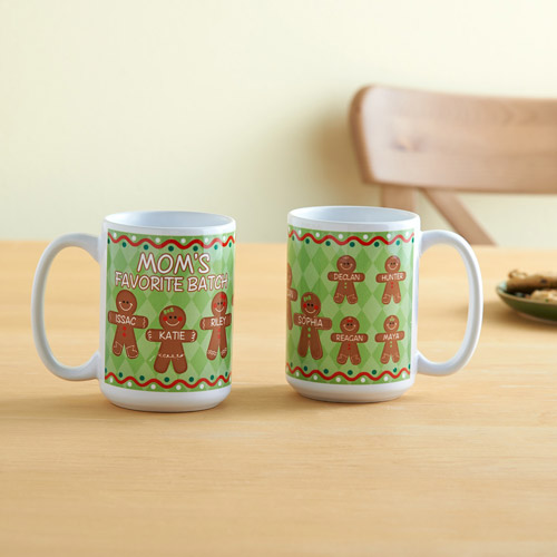 Personalized Gingerbread Favorite Batch 15 oz Coffee Mug