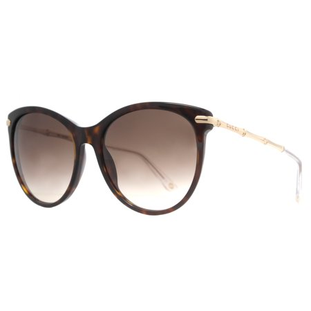 63546ad673 Gucci - Gucci GG 3771 S 0LVL CC Havana Brown Gold Women s Cateye Sunglasses  - Walmart.com