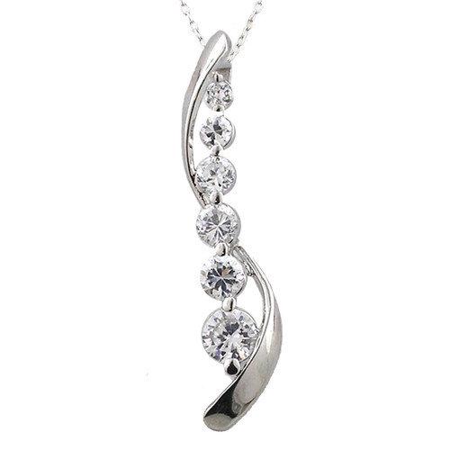 JewelExcess Sterling Silver Journey Diamond Pendant
