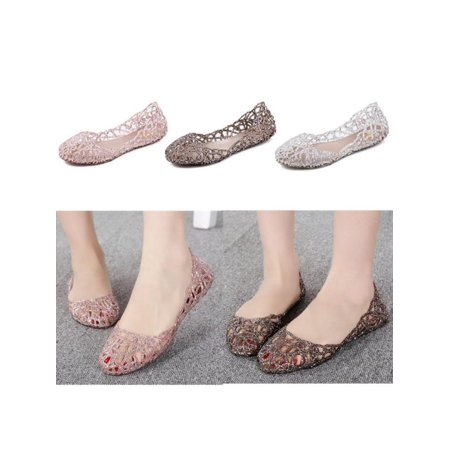 de5ec7ddd945 Fashion Women Summer Beach Shoes Ventilate Crystal Jelly Hollow Out Bird s  Nest Sandal - Walmart.com
