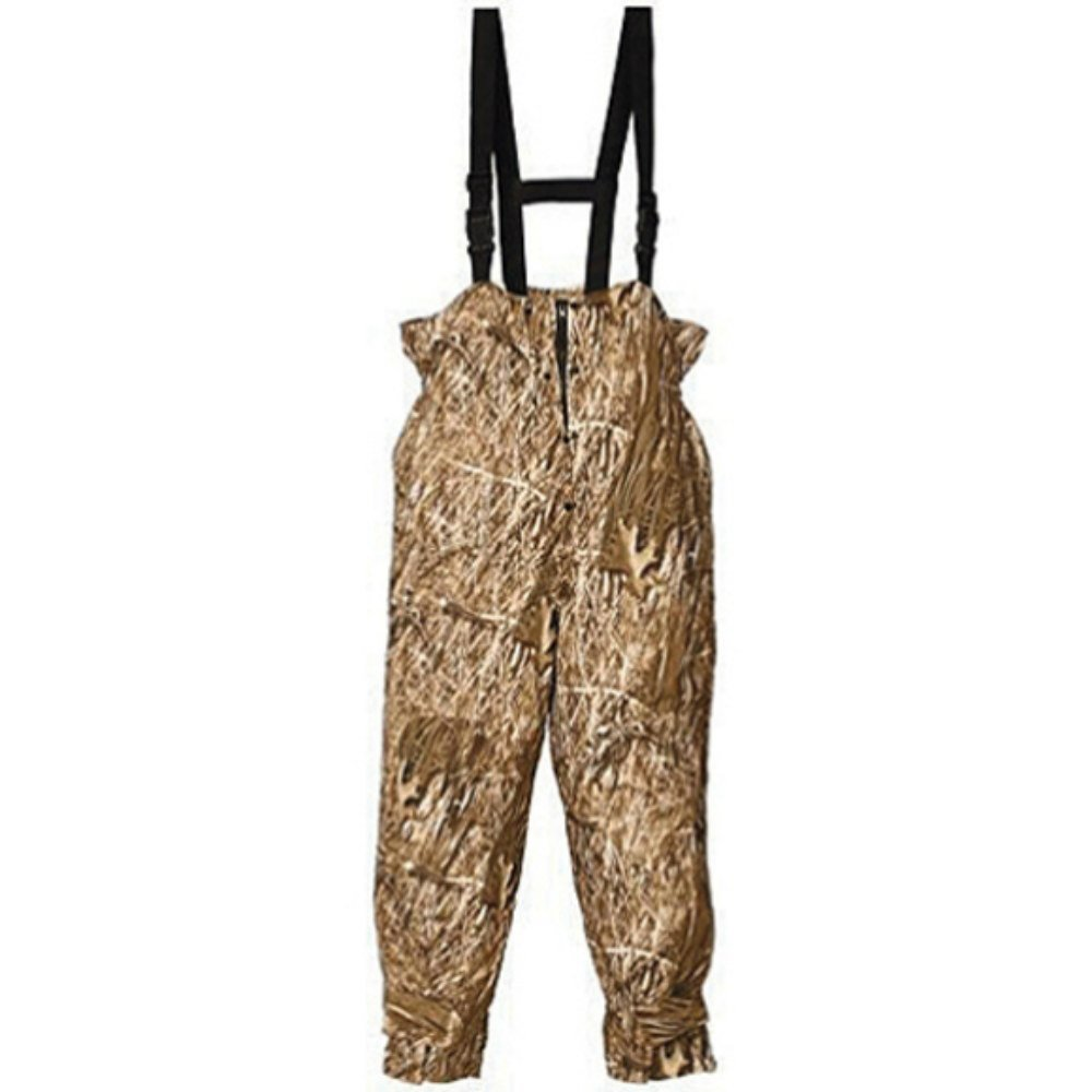 Huntworth Men's Micro Fiber Lined Waterproof Camouflage Bib Overalls (Marshland Camo Medium) by Huntworth