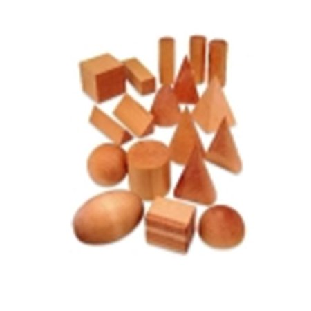 Learning Resources Wooden Geometric Solids, Set 12