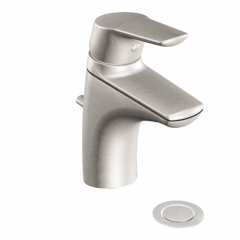 Moen  Method Brushed Nickel One-handle Low Arc Bathroom F...