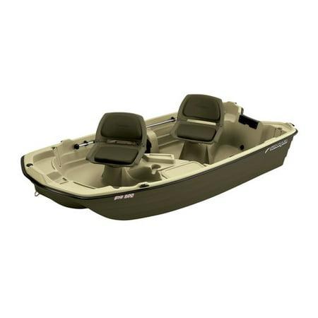 Sun Dolphin 2-Man Pro 102 Fishing Boat, Tan/Olive