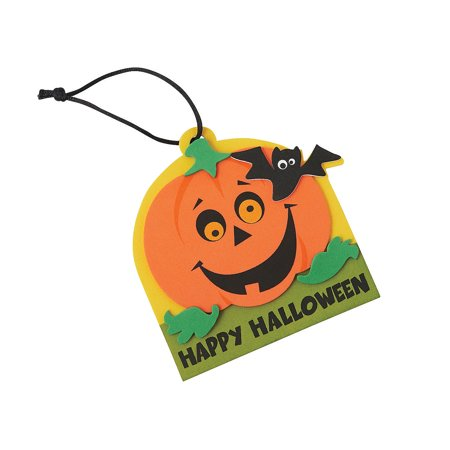 Fun Express - Happy Halloween Foam Ornament CK-50 for Halloween - Craft Kits - Ornament Craft Kits - Foam - Halloween - 50 Pieces - Creatology Halloween Foam Kit