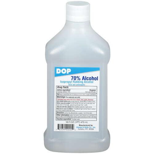 Omega & Delta Co Inc Dop Rubbing Alcohol