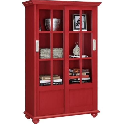 Bookcases With Glass Doors Walmart Com