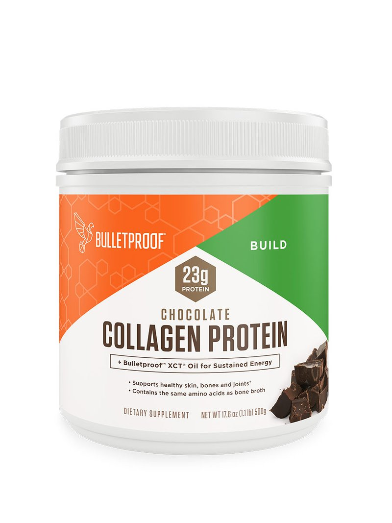 Bulletproof Collagen Peptide Powder, Chocolate hydrolyzed protein, keto-friendly for ketogenic diet, grass-fed, amino acid building blocks for high performance (17.6 ounces)