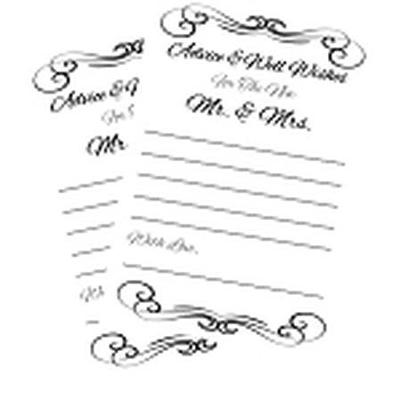 Wedding Activity & Bridal Shower Games Bride Wedding Advice Cards - 40Cards
