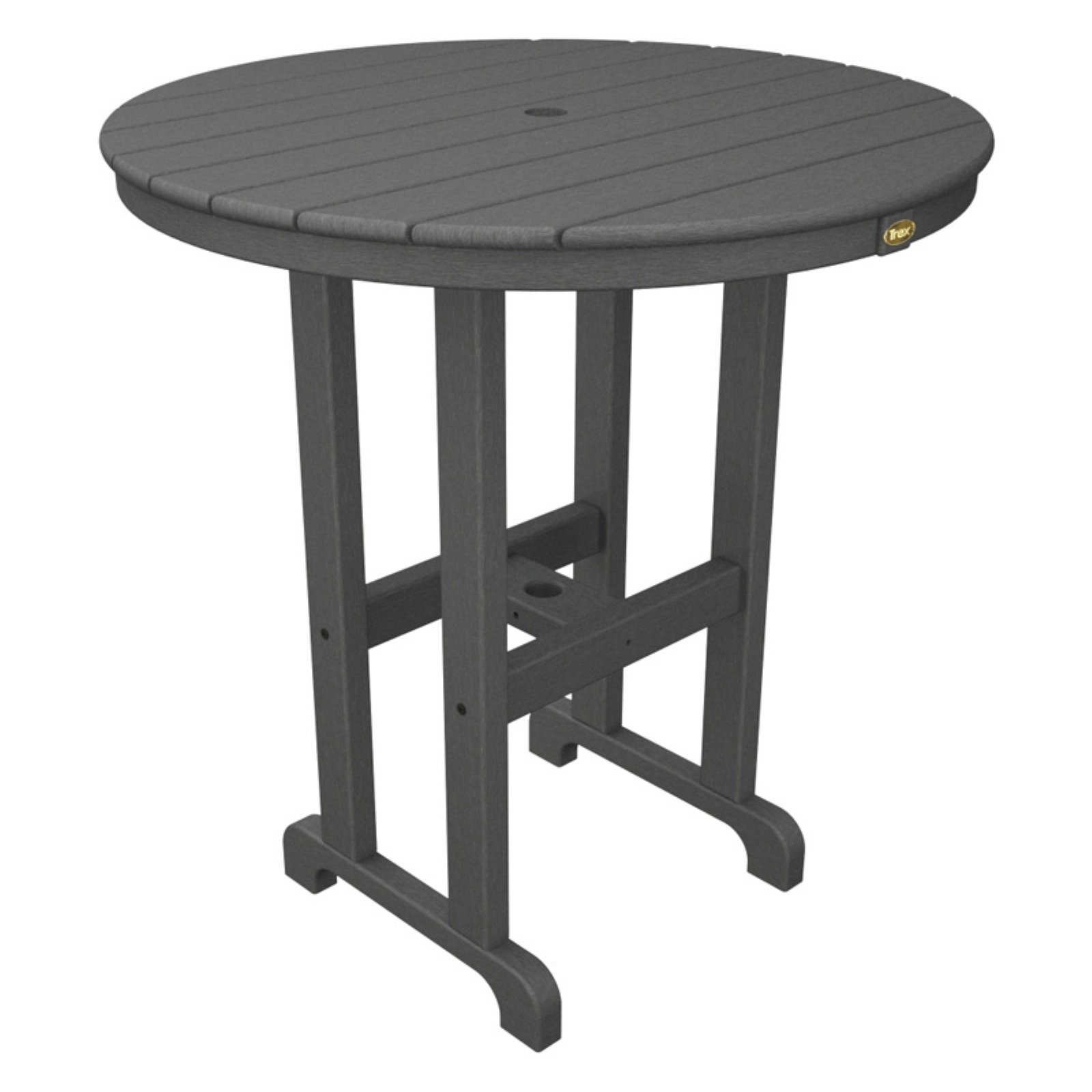 Trex Outdoor Furniture Recycled Plastic Monterey Bay Round Counter Height Table