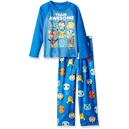 Blues Clues Pajamas (Pokemon Boys' Little Team 2-Piece Pajama Set, Awesome Blues, 4 )