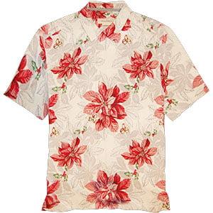 Tommy Bahama Festive Flora Camp Shirt - Marble Cream