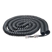 iMBAPrice Black Telephone headset cable - 3 to 25 Feet Heavy Duty Coiled Telephone Handset Cord