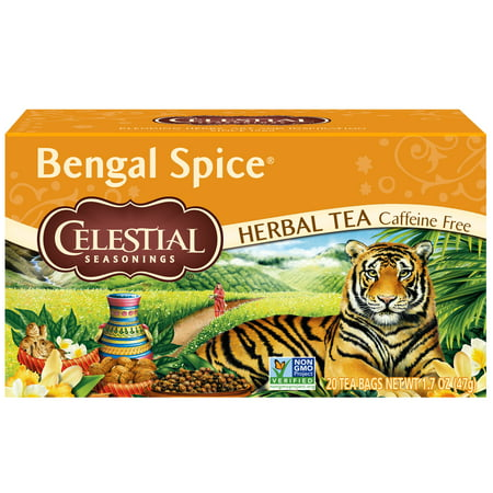 Celestial Seasonings Black Tea Honey - (6 Boxes) Celestial Seasonings Herbal Tea, Bengal Spice, 20 Count
