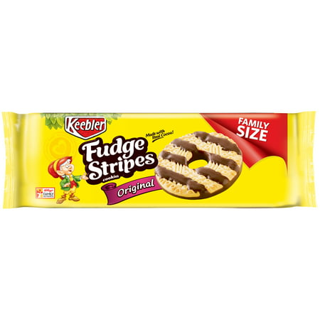 Holiday Fudge - (2 Pack) Keebler Fudge Stripes Original Cookies, 17.3 oz
