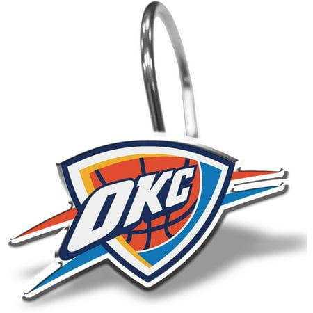 NBA Oklahoma City Thunder Curtain Ring Set, 12 Piece