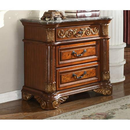 Meridian Furniture Usa Royal 3 Drawer Nightstand