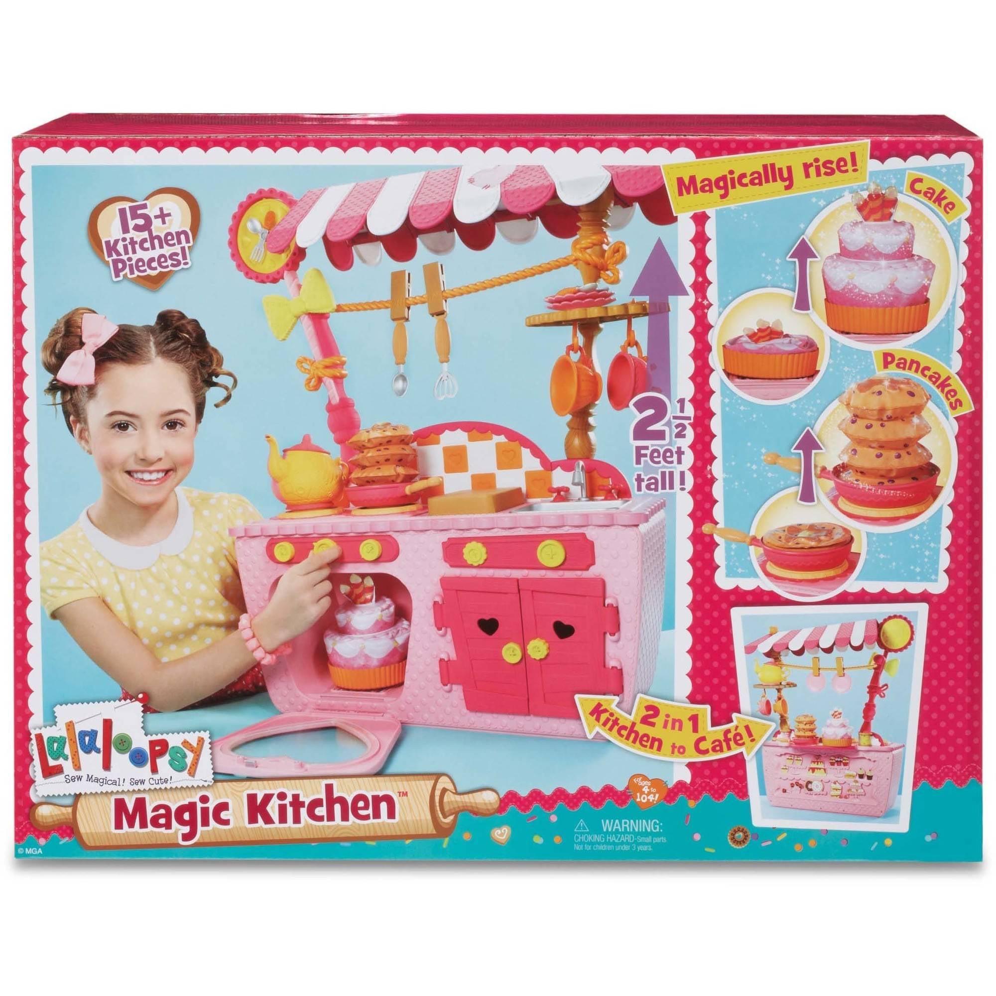 Play Kitchen lalaloopsy magic play kitchen and cafe - walmart