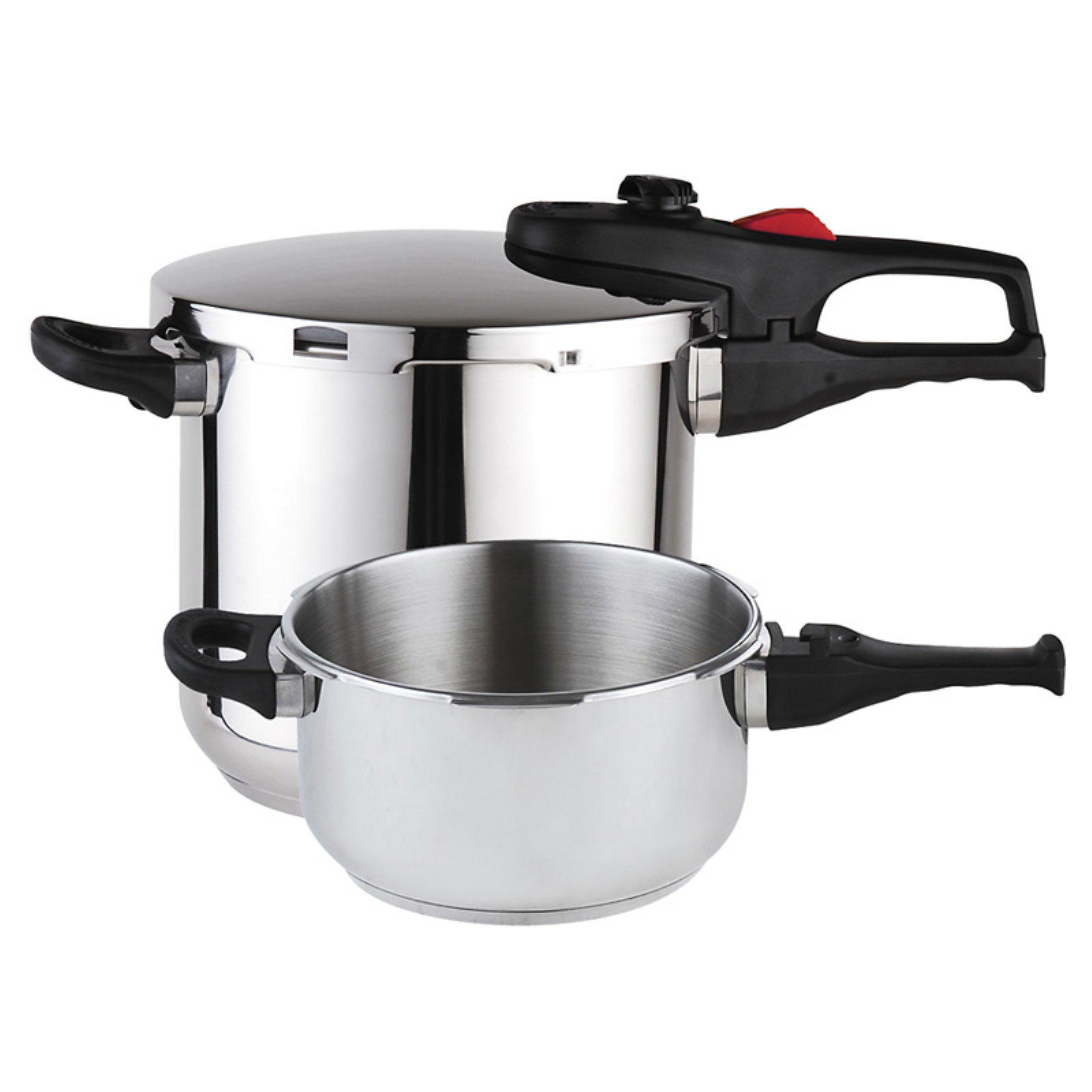 Practika Plus 4+6 Qts. Stainless Steel Pressure Cooker