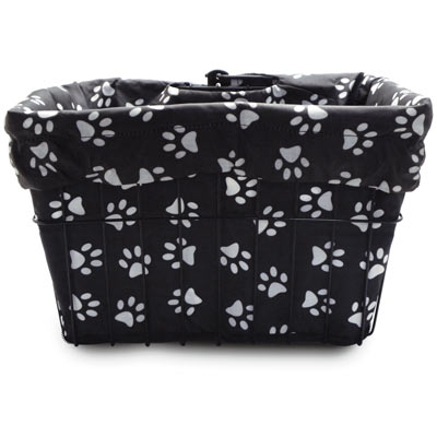 Cruiser Candy Reversible Bike Basket Liner (Dog Paw)